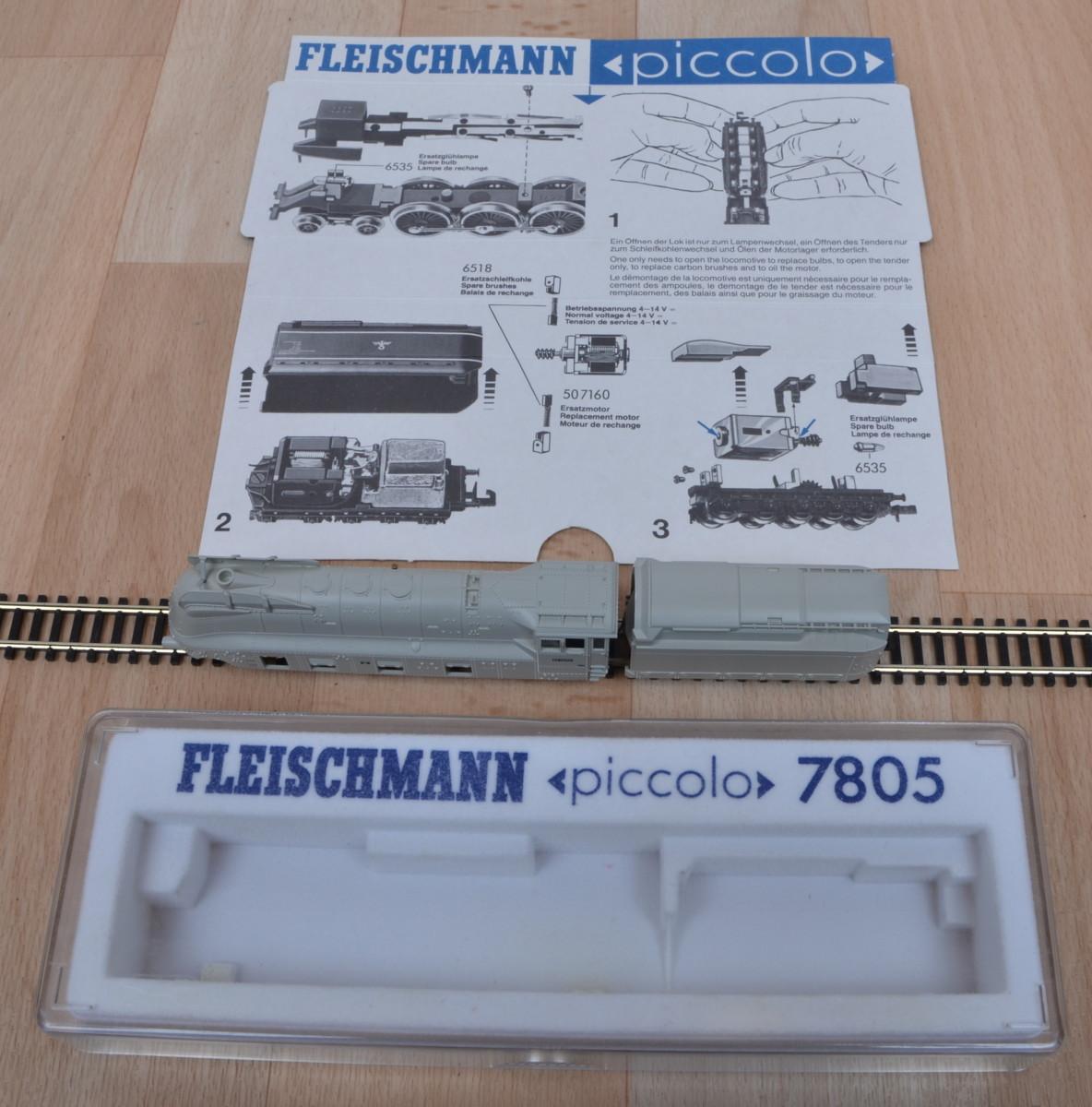 fleischmann piccolo 7805 stromliniendampflok br 01 der drg. Black Bedroom Furniture Sets. Home Design Ideas