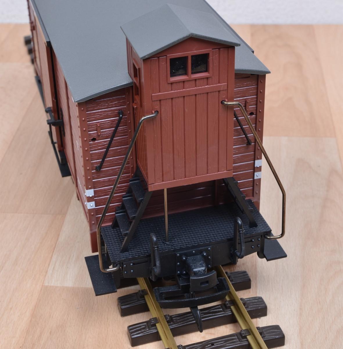 lgb 43234 g terwagen mit bemserhaus der drg metall rs. Black Bedroom Furniture Sets. Home Design Ideas