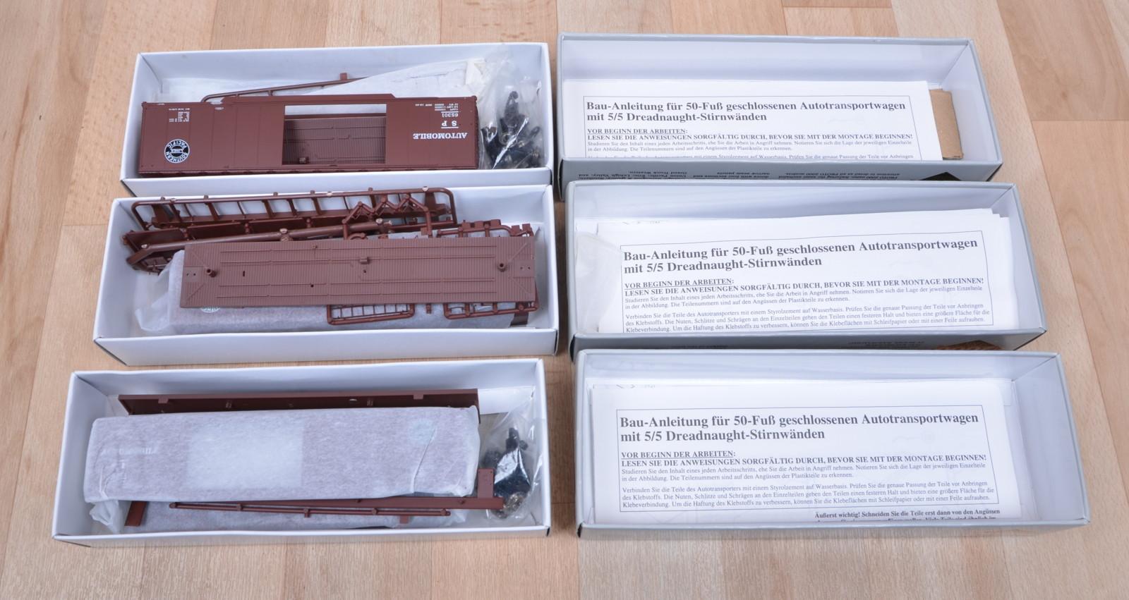3 stk brawa life like trains 0976 us frachtwagen baus tze. Black Bedroom Furniture Sets. Home Design Ideas