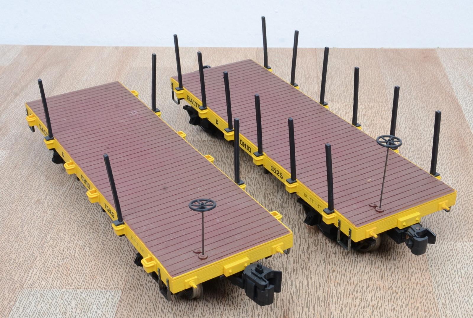 2 stk bachmann rungenwagen ohio 1525 metallr der klauenkupplungen spur g ebay. Black Bedroom Furniture Sets. Home Design Ideas