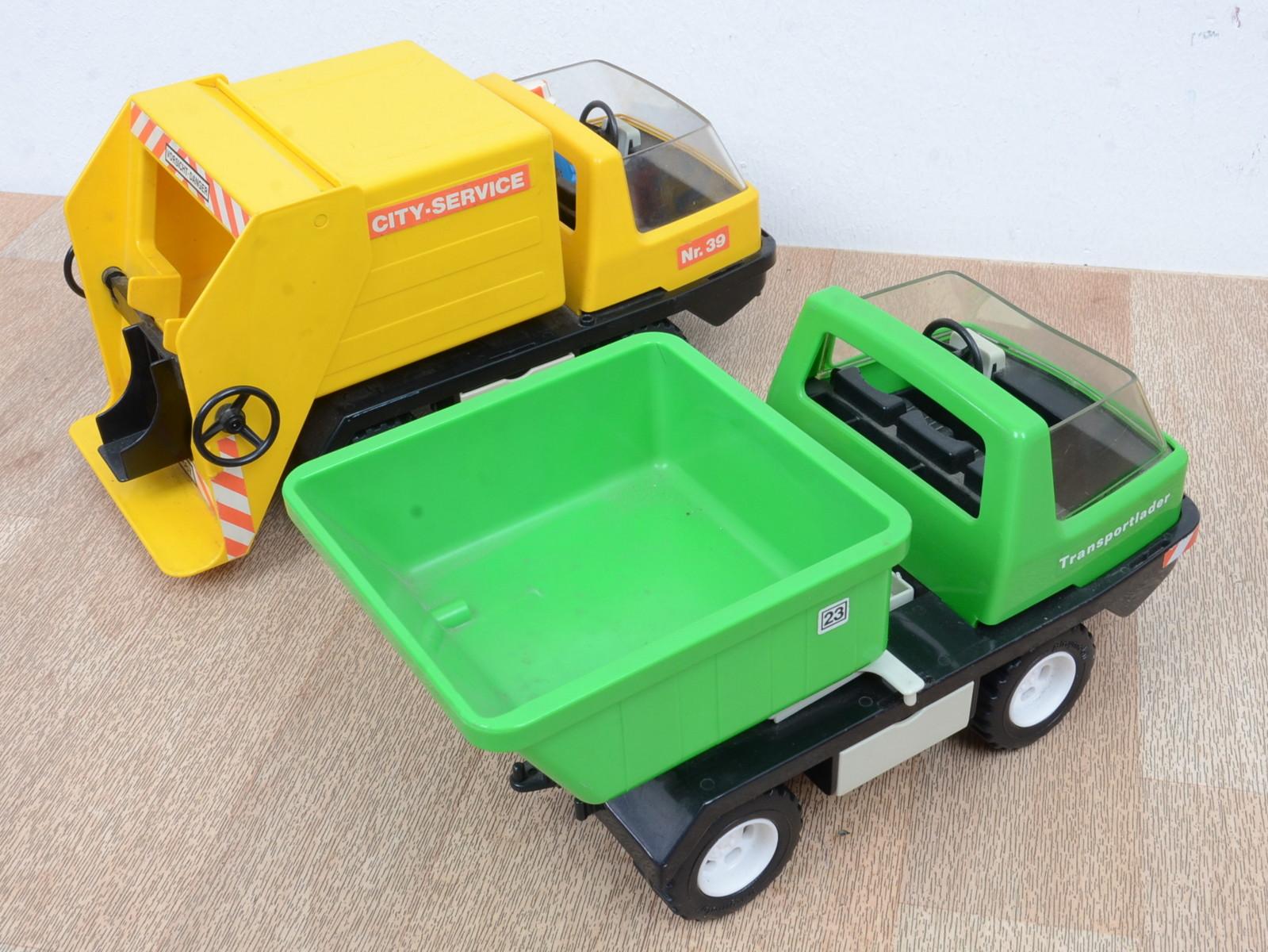 playmobil konvolut mit m llabfuhr containerwagen. Black Bedroom Furniture Sets. Home Design Ideas