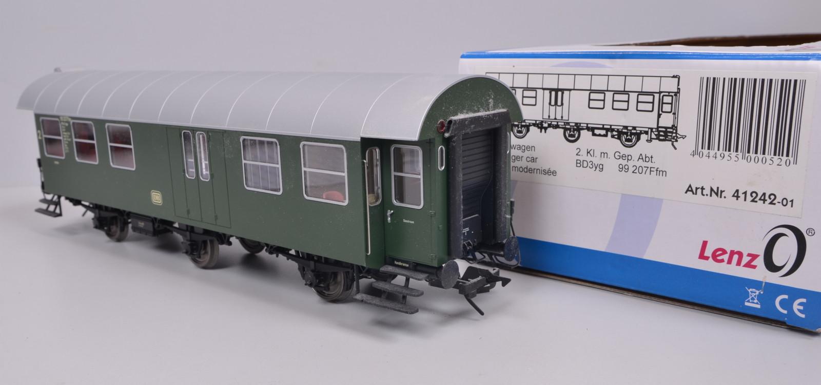 mit Gepäckabteil DB Spur 0 Lenz 41242-03 Personenwagen Umbauwagen BPw3yge 2 Kl