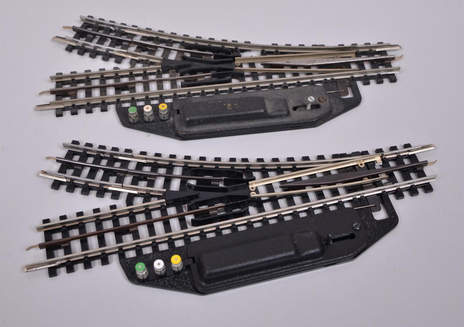 Trix Express H0 4361 4362 elektrische Weiche links geprüft in OVP