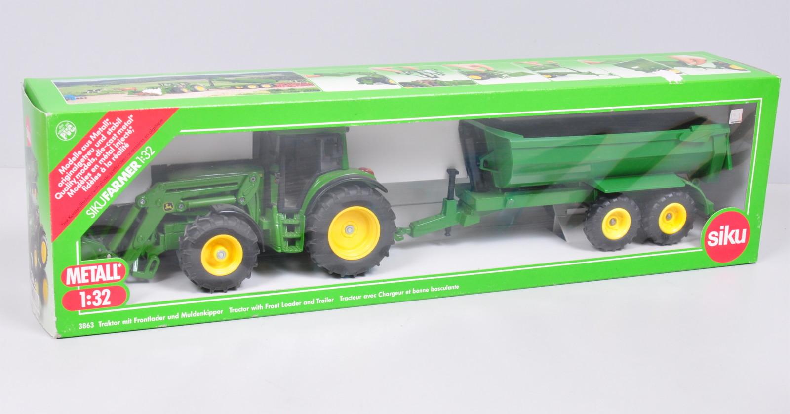 OVP SIKU Farmer 1:32 Die Cast  3863 Traktor Muldenkipper Ohne Frontlader NEU